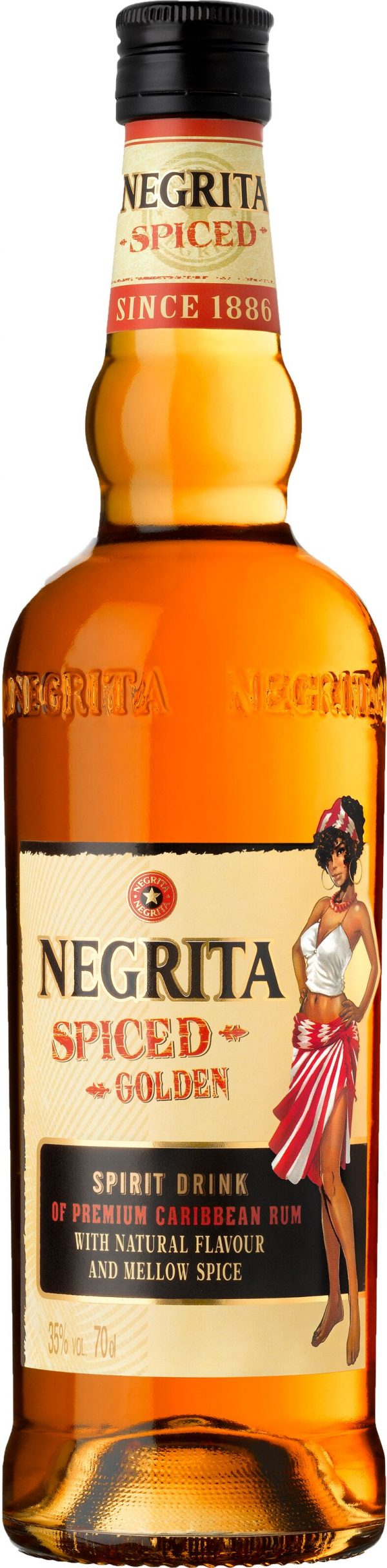 Negrita Spiced Golden Spirit Drink 70cl