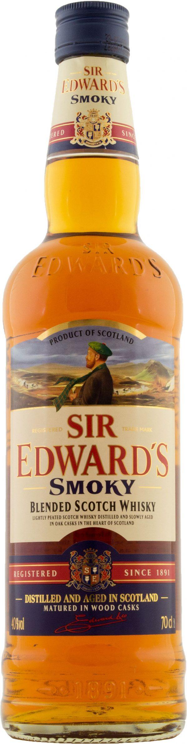 Sir Edwards Smoky Blanded Scotch Whisky 70cl