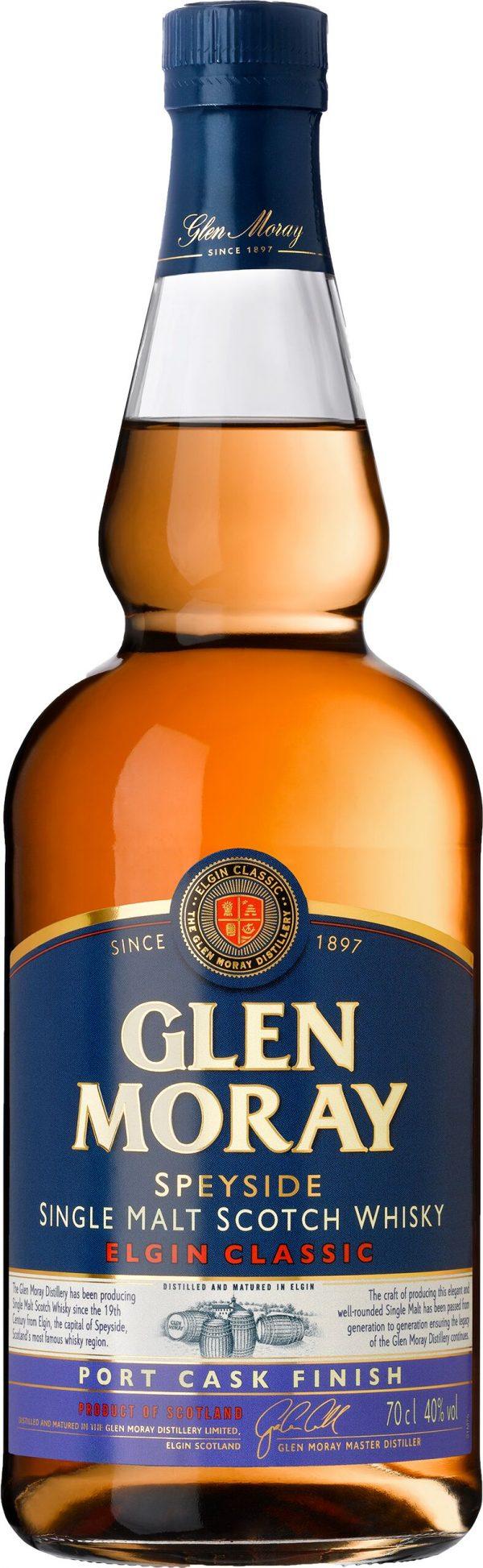 Glen Moray Port Cask Finish Speyside Single Malt 70cl