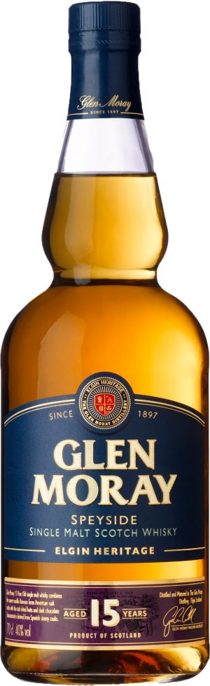 Glen Moray Elgin Heritage 15 Years Old Speyside Single Malt 70cl