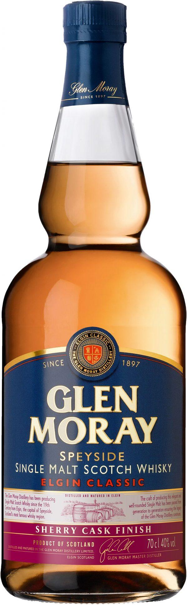 Glen Moray Sherry Cask Finish Speyside Single Malt 70cl