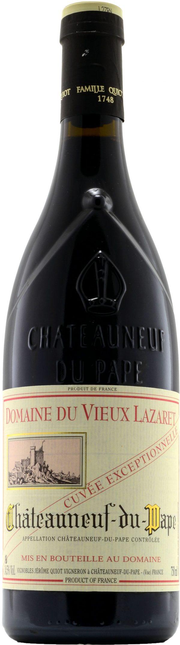 Jerome Quiot Chateaneuf-du-Pape Domaine du Vieux Lazaret Cuvee Exceptionnelle Rouge 75cl