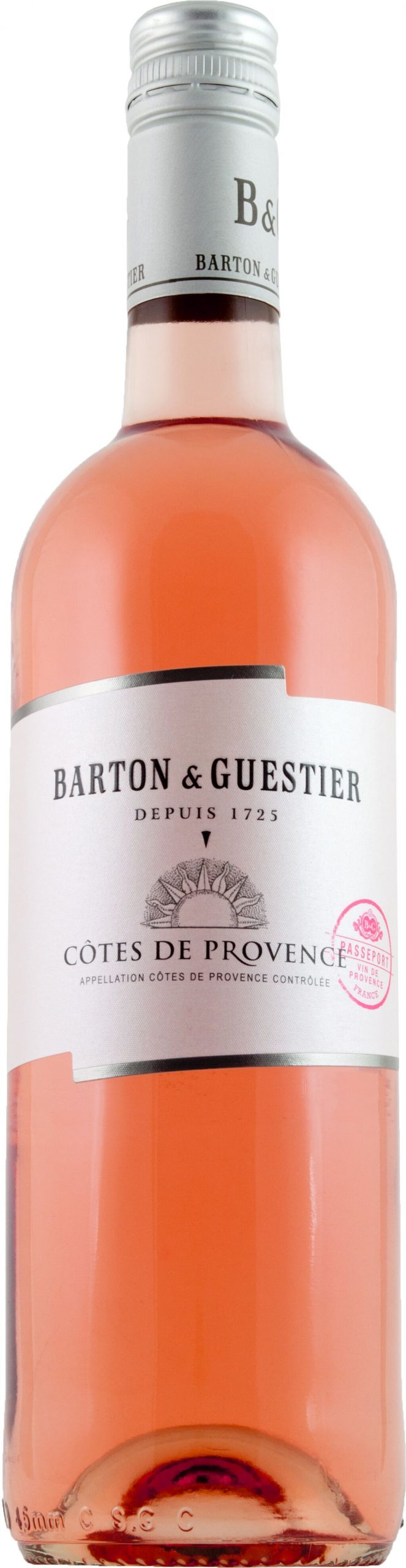 Barton and Guestier Passeport Cotes de Provence Rose 75cl