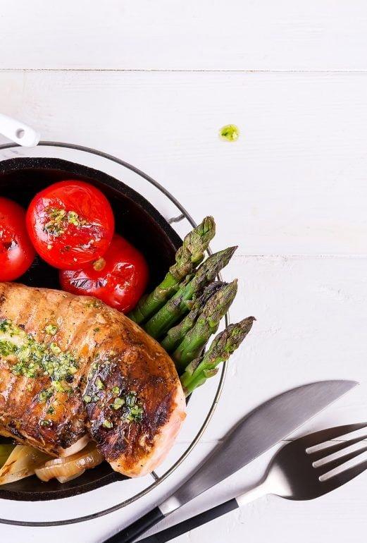 Kanaa ja pestoa