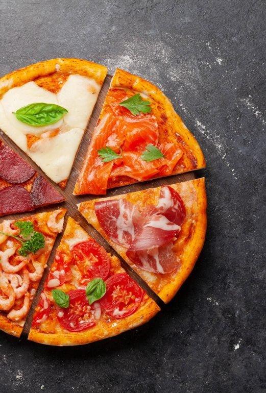 pizzaa monenlaista