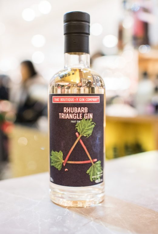 that boutique Rhubarb Triangle Gin