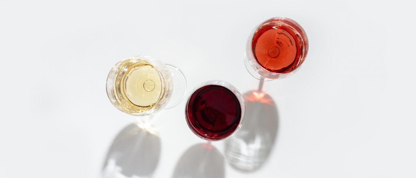 Assorted wines in glass