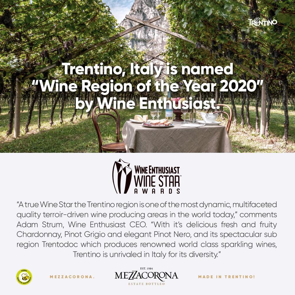 Vuoden viinialue Trentino