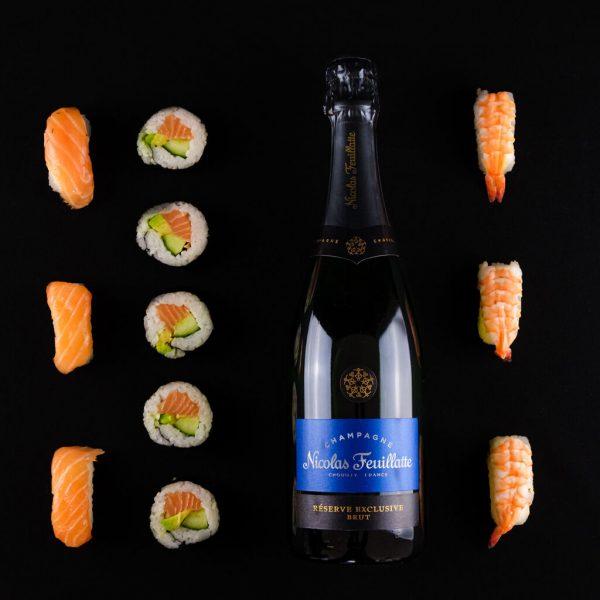 Nicolas Feuillatte excxlusive brut ja sushi